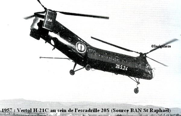 Vertol H.21C a la 20S en 1957