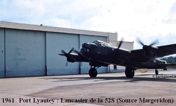 1961 a Port Lyautey Lancaster de la 52S devant le hangar