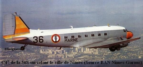 C47 de la 56S survolant Nimes