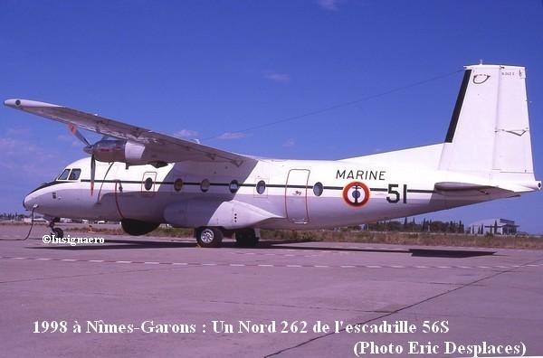 Nord 262 fregate de l escadrille 56S en 1998 bis
