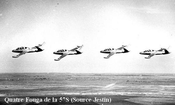 Quatre Fouga de la 57S