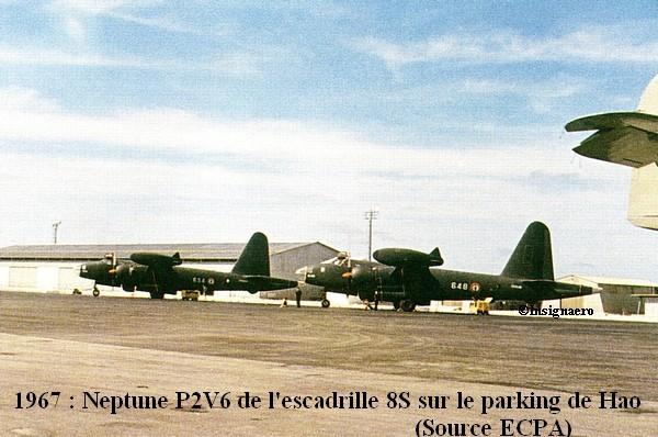 1967 sur le parking de Hao Neptune P2V6 de la 8S