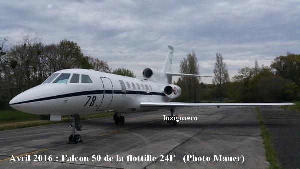 Avril 2016 Falcon 50 de la 24F
