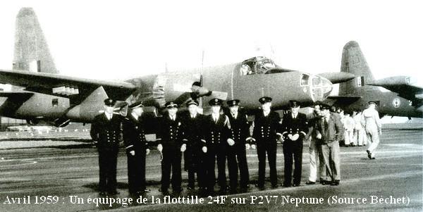 Avril 59 un equipage de P2V7 Neptune de la 24F