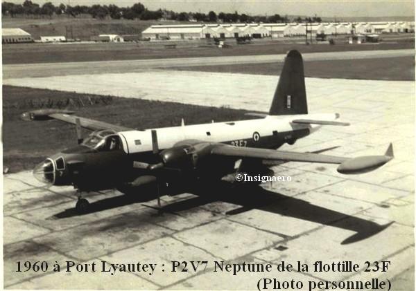 Cliche d un Neptune P2V7 a Port Lyautey en 1960