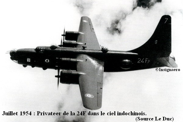 Juin 1954 Privateer de la 24F en Indo