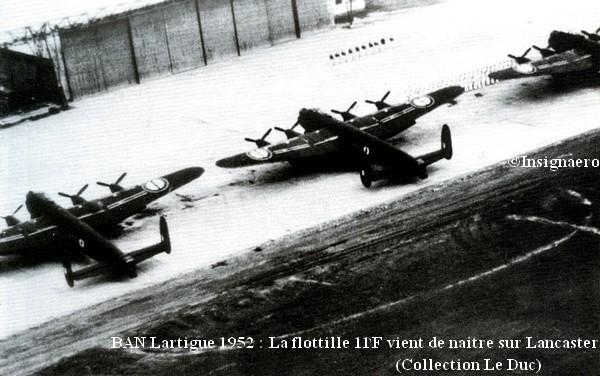 Lartigue 1952 creation de la flottille 11F future 25F