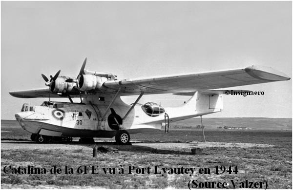 Un Catalina de la flottille 6FE en 1944 a Port Lyautey.