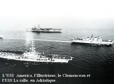 Clemenceau en Adraitique mission Balbuzard