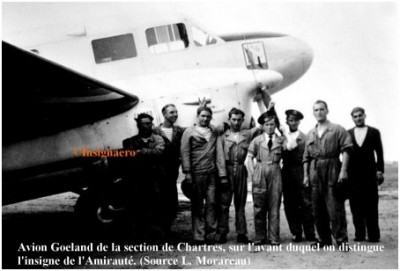 Photo avion Goeland de la section de Chartres