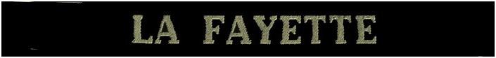 Ruban legende P.A La Fayette