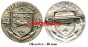 30.  BATRAL Champlain rondache diametre 30 mm