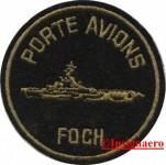6.  Patch P.A Foch fond noir avec silhouette