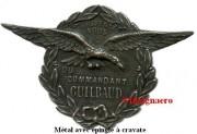 Commandant Guilbaud metal epinglette